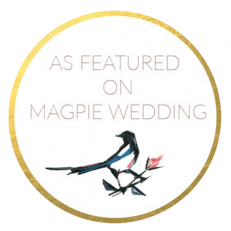 magpie wedding badge