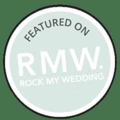 Featured on bridal blog Rock My Wedding